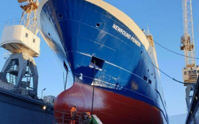 Foreign ships in Slippurinn Akureyri shipyard